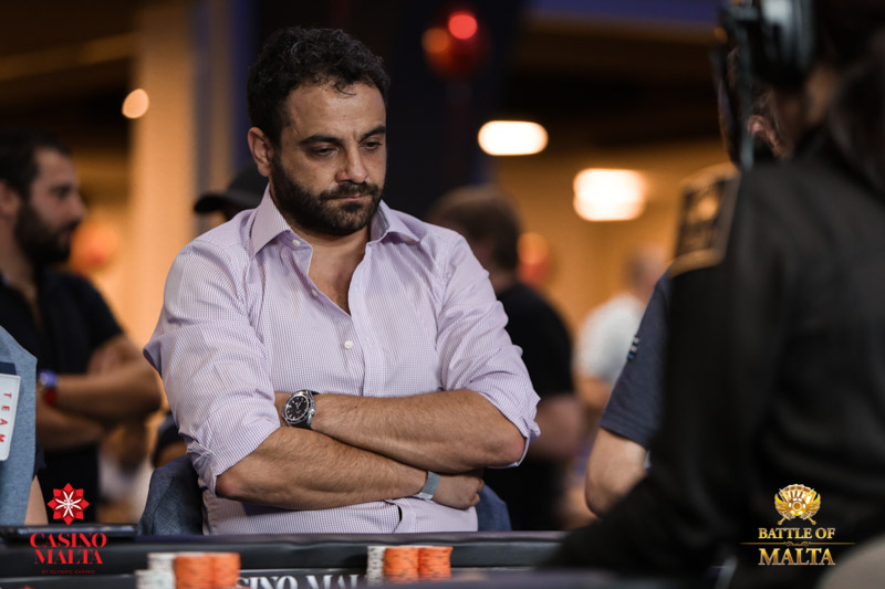 Abdallah Fakhreddine Is Playing His First Ever Live Tournament The 38 Year Old Who Bought In Four Times To Make Day 2 Runs A Chain Of Hair Salons